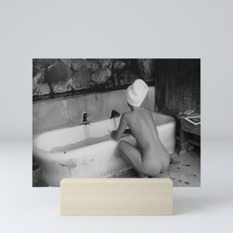 Bath in Paris, Cold Water Flat, Female Nude black and white art photography / photograph Mini Art Print