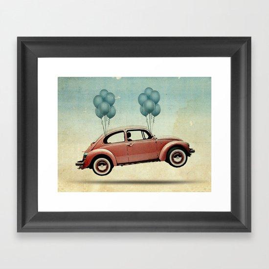 take flight, Bug Framed Art Print