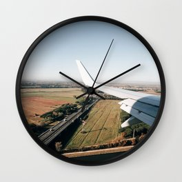 italian landscape from the airplane Wall Clock
