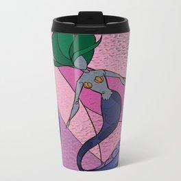 Mermaid Stained Glass (Royal) Metal Travel Mug