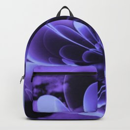 Abstract Blue Flower Backpack