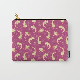 Relaxolotl - Rose Pink Carry-All Pouch