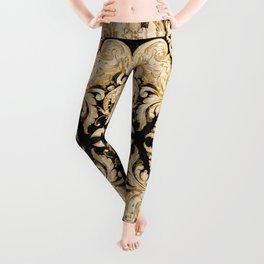A Modern Vintage Dream (black background) Leggings