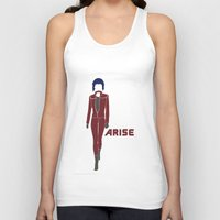 ghost in the shell Tank Tops featuring Ghost in the Shell Arise by Krbshadow