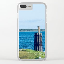 Port St. Joe Marina view 28 Clear iPhone Case