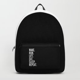 Run, Sleep, Repeat Gym Quote Backpack