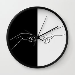 Hands of God and Adam- The creation of Adam Wall Clock