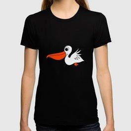 Childishly hand drawn pelican bird T-shirt