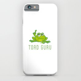 TOAD GURU Funny Crock  iPhone Case