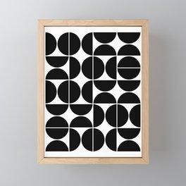 Mid Century Modern Geometric 04 Black Framed Mini Art Print