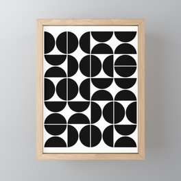 Mid Century Modern Geometric 04 Black Framed Mini Art Print
