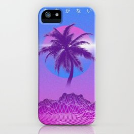 Vaporwave Palm Tree iPhone Case