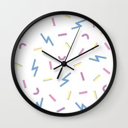 Jazzy Confetti Dance Party Wall Clock