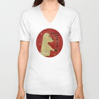 lab V-neck T-shirts featuring Le Lab d'or by bri.buckley
