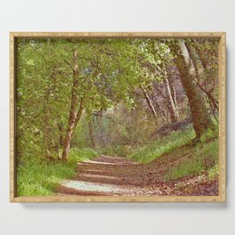 Shady Path Through Woods Serving Tray