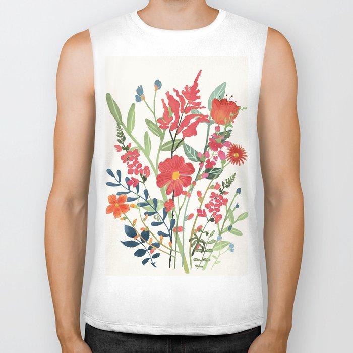 Beautiful Flowers Biker Tank