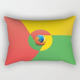 Chrome Fire - Graphic Art Rectangular Pillow