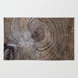 Tree Rings rustic decor Rug