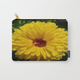 Holligold Blossoming Yellow Pot Marigold Flower  Carry-All Pouch
