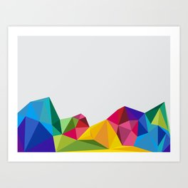 Geometric - Landscapes 2/4 Art Print