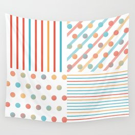 Simple saturated pattern Wall Tapestry