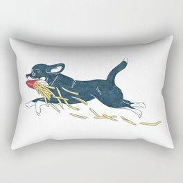 Chihuahua & French Fries Rectangular Pillow