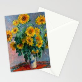 Bouquet of Sunflowers - Claude Monet Stationery Cards