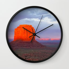 Monument on Fire Wall Clock