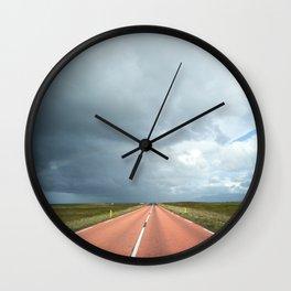 red roads ahead Wall Clock