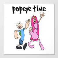 popeye Canvas Prints featuring popeye time by Chiaris