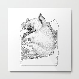I'm Tired, You're a Lonely Frenchie Metal Print
