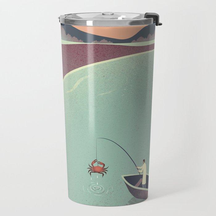 Fishing Face Travel Mug