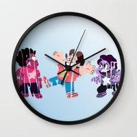 steven universe Wall Clocks featuring Steven by pokegirl93