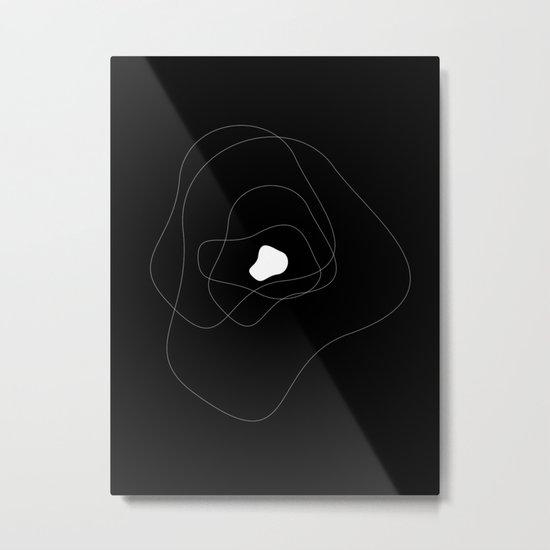 Abstract Infinite v. Black Metal Print