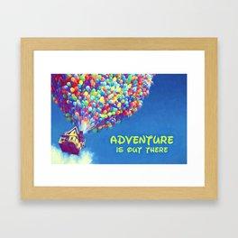 Up Balloons Framed Art Print