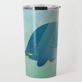 Whale print Travel Mug