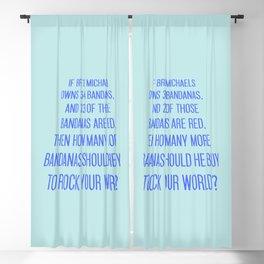 Bret Michaels Riddle Blackout Curtain