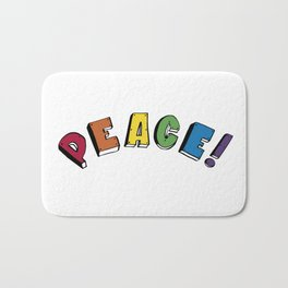 Peace! Bath Mat