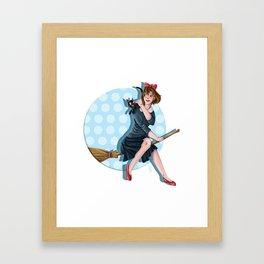 Modern Kiki Framed Art Print