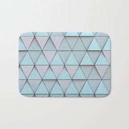 Teal Blue Geometric Pattern Bath Mat