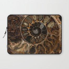 Earth treasures - Fossil in brown tones Laptop Sleeve