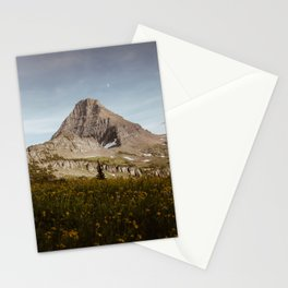 Moon Rising Above Hidden Lake Stationery Cards