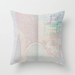 Passport Throw Pillow