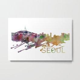 Seoul Art, Seoul Skyline, Seoul map, Seoul wall art, Seoul map print Metal Print