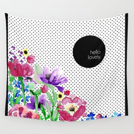 Hello Lovely Floral Wall Tapestry