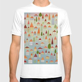 100 little houses T-shirt