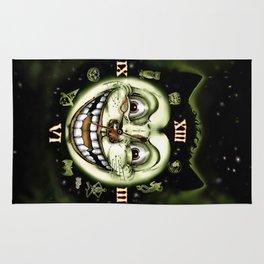 Black Cat 13 Halloween Clock Rug