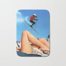 Skiing Time! Bath Mat