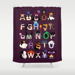 Evil-phabet Shower Curtain