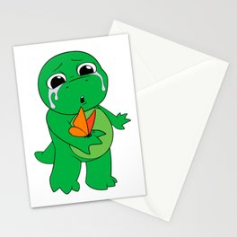 Little Dinosaur, Big Feelings (Flutter) Stationery Cards